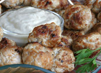 Cocktail Meatballs with Horseradish Sauce