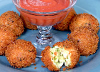Crab Croquettes with Cocktail Sauce