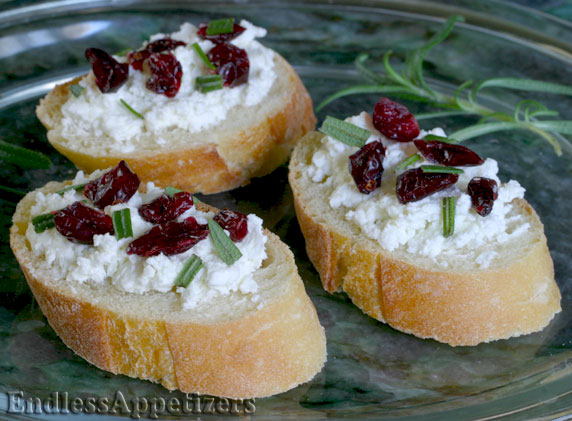 Cranberry and goat cheese canap s recipe with picture for Canape with cheese